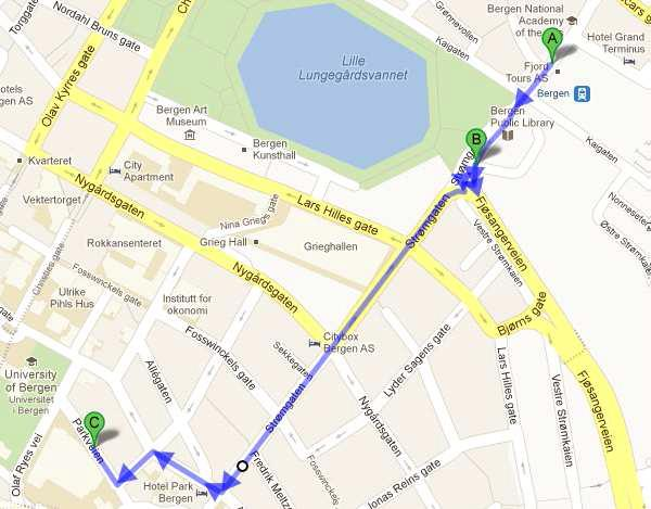 Directions to the student centre
